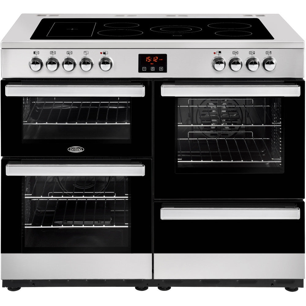 Belling Cookcentre 110E Electric Ceramic Hob Range Cooker Stainless Steel - Moores Appliances Ltd.