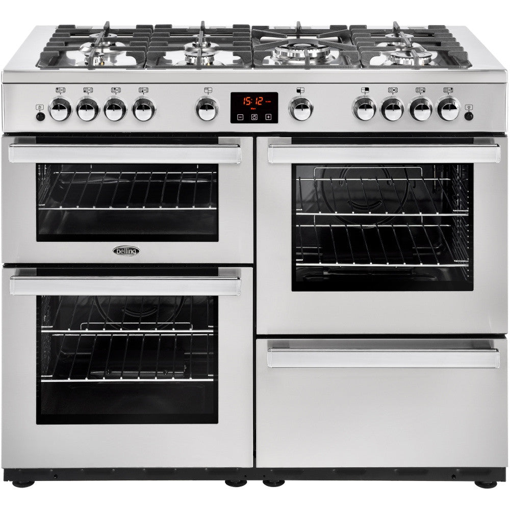 Belling Cookcentre 110G Professional Natural Gas Range Cooker Stainless Steel - Moores Appliances Ltd.
