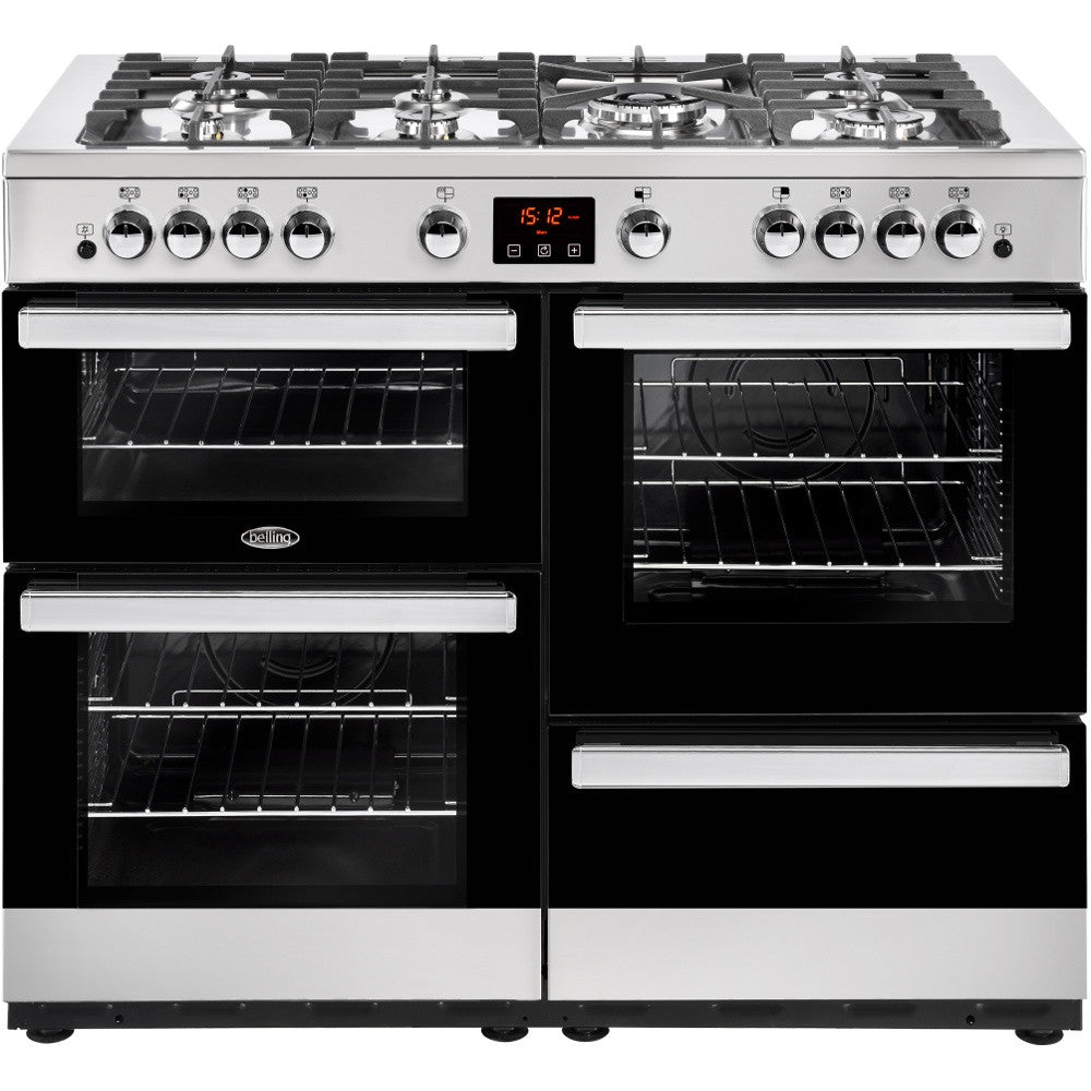 Belling Cookcentre 110G Natural Gas Range Cooker Stainless Steel - Moores Appliances Ltd.