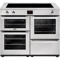 Belling Cookcentre Professional 110Ei 110cm Electric Range Cooker with Induction Hob - Stainless Steel