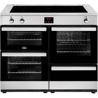 Belling Cookcentre 110Ei 110cm Electric Range Cooker with Induction Hob - Stainless Steel