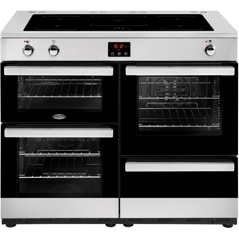 Belling Cookcentre 110Ei Electric Induction Hob Range Cooker Stainless Steel - Moores Appliances Ltd.