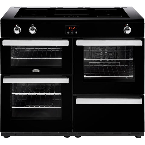 Belling Cookcentre 110Ei Electric Induction Hob Range Cooker Black - Moores Appliances Ltd.