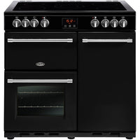 Belling Farmhouse 90E 90cm Electric Range Cooker with Ceramic Hob - Black