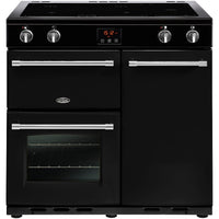 Belling Farmhouse 90Ei 90cm Electric Range Cooker with Induction Hob - Black