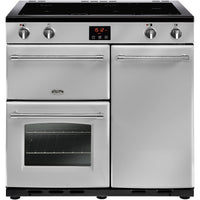 Belling Farmhouse 90Ei 90cm Electric Range Cooker with Induction Hob - Silver
