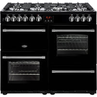 Belling Range Cooker Farmhouse 100DFT Dual Fuel Black