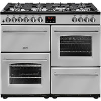 Belling Range Cooker Farmhouse 100DFT Dual Fuel Silver