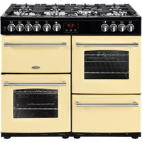 Belling Range Cooker Farmhouse 100DFT Dual Fuel Range Cream