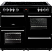 Belling Farmhouse 100E 100cm Electric Range Cooker with Ceramic Hob -  Black