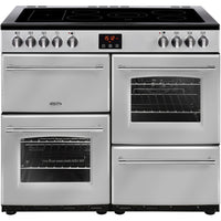 Belling Farmhouse 100E 100cm Electric Range Cooker with Ceramic Hob - Silver