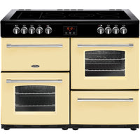 Belling Farmhouse 100E 100cm Electric Range Cooker with Ceramic Hob - Cream