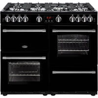 Belling Farmhouse 100G 100cm Gas Range Cooker - Black