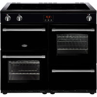 Belling Farmhouse 100Ei 100cm Electric Range Cooker with Induction Hob - Black