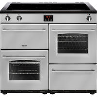 Belling Farmhouse 100Ei 100cm Electric Range Cooker with Induction Hob - Silver