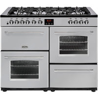Belling Farmhouse 110DFT 110cm Dual Fuel Range Cooker - Silver