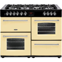 Belling Farmhouse 110DFT 110cm Dual Fuel Range Cooker - Cream