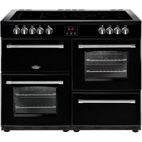 Belling Farmhouse 110E 110cm Electric Range Cooker with Ceramic Hob - Black