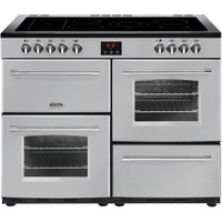 Belling Farmhouse 110E 110cm Electric Range Cooker with Ceramic Hob - Silver