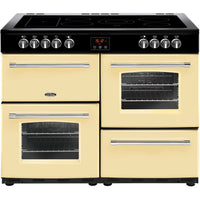 Belling Farmhouse 110E 110cm Electric Range Cooker with Ceramic Hob - Cream