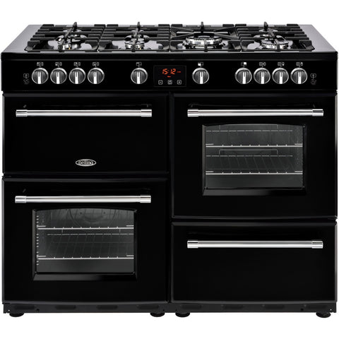 Belling Farmhouse 110G Natural Gas Range Cooker Black - Moores Appliances Ltd.