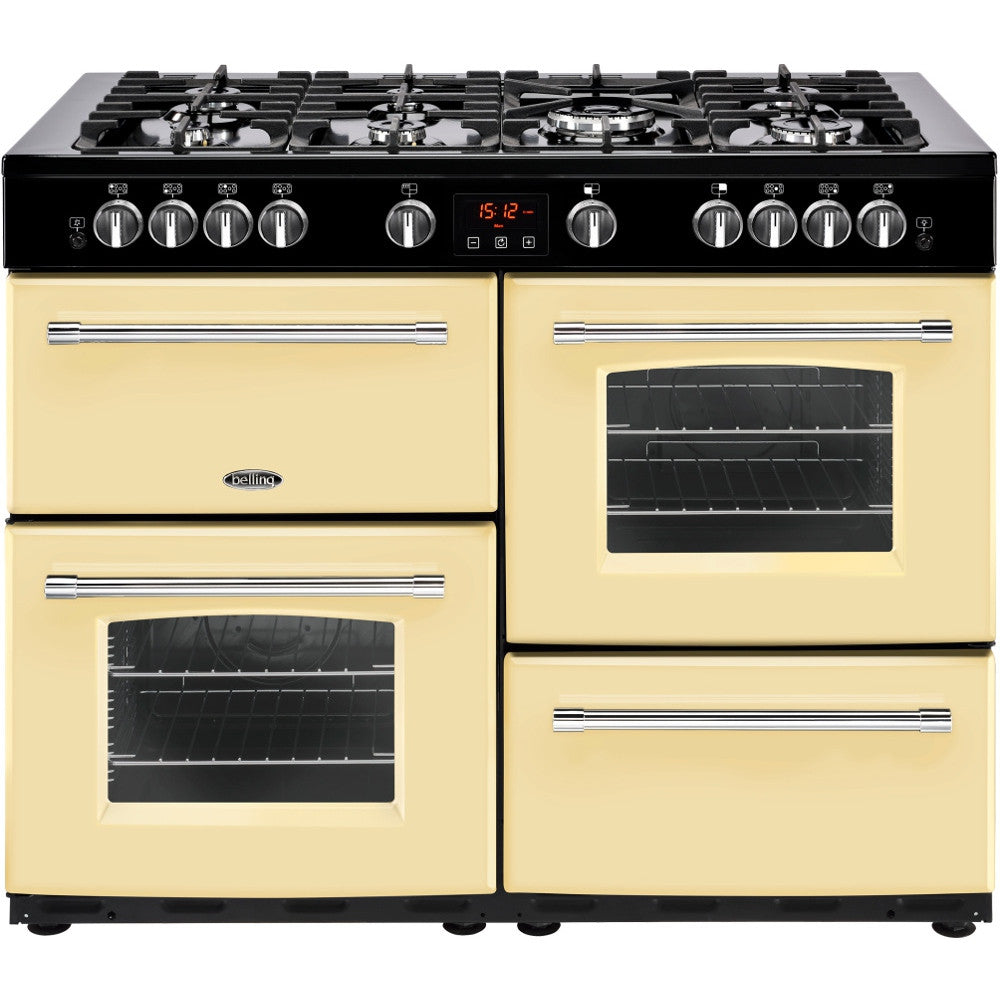 Belling Farmhouse 110G Natural Gas Range Cooker Cream - Moores Appliances Ltd.