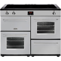 Belling Farmhouse 110Ei 110cm Electric Range Cooker with Induction Hob - Silver