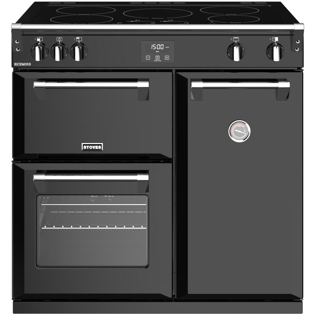 Stoves Richmond S900Ei 90cm Electric Range Cooker with Induction Hob - Black