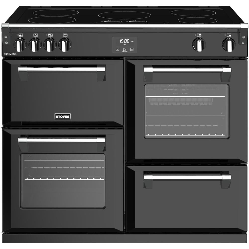 Stoves Richmond S1000Ei Electric Range Cooker with Induction Hob - Black
