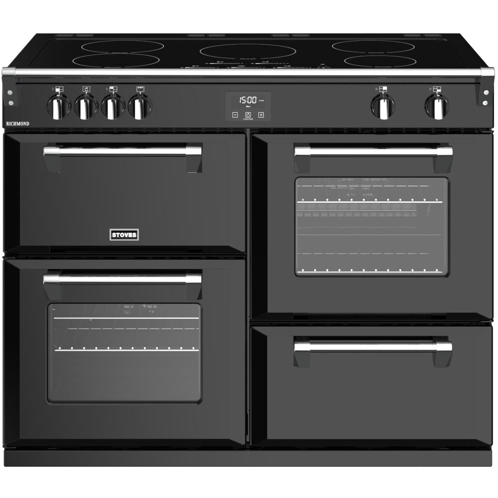 Stoves Richmond S1100Ei 110cm Electric Range Cooker with Induction Hob - Black