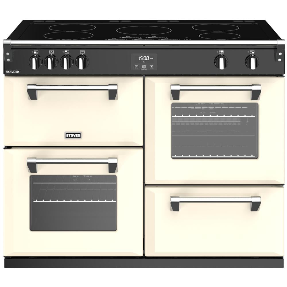 Stoves Richmond S1100Ei 110cm Electric Range Cooker with Induction Hob - Classic Cream