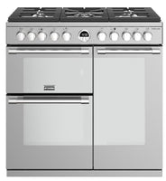 Stoves Sterling S900DF 90cm Dual Fuel Range Cooker - Stainless Steel