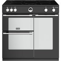 Stoves Sterling S900Ei 90cm Electric Range Cooker with Induction Hob - Black