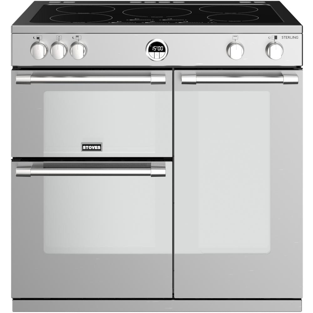 Stoves Sterling S900Ei 90cm Electric Range Cooker with Induction Hob - Stainless Steel
