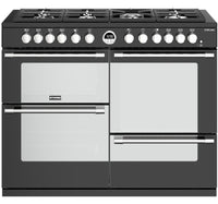 Stoves Sterling S1100DF 110cm Dual Fuel Range Cooker - Black