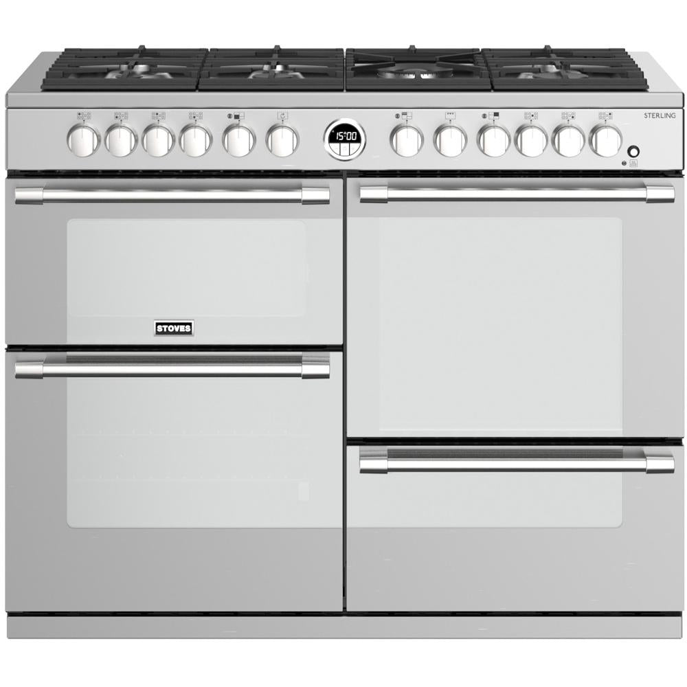Stoves Sterling S1100DF 110cm Dual Fuel Range Cooker - Stainless Steel