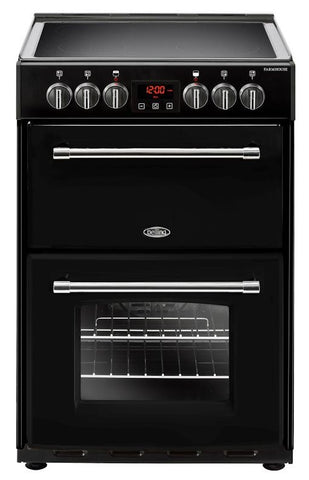 Belling Electric Cooker Farmhouse 60E Black Ceramic Double Oven 600mm Wide