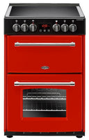 Belling Farmhouse 60E 60cm Electric Cooker with Ceramic Hob - Red