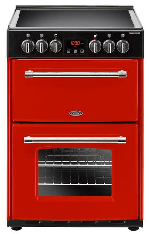 Belling Electric Cooker Farmhouse 60E Hot Jalapeno Ceramic Double Oven 600mm Wide