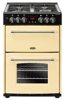Belling Dual Fuel Cooker Farmhouse 60DF Cream Double Oven 600mm Wide