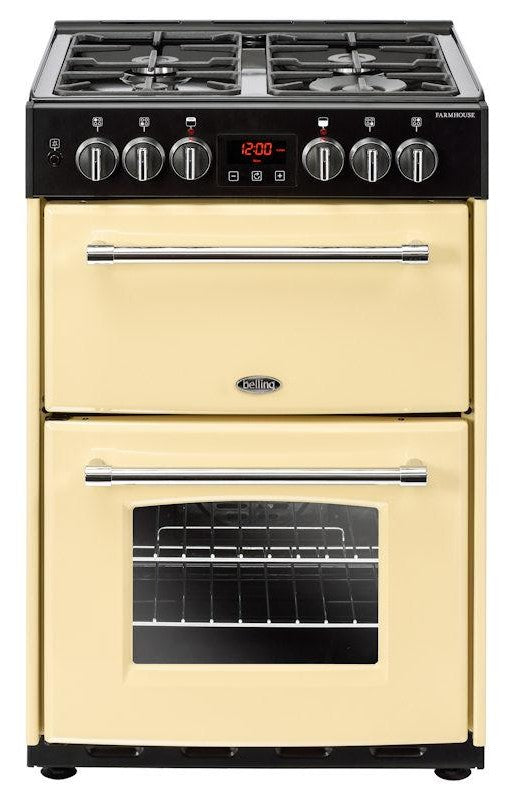 Belling Farmhouse 60DF 60cm Dual Fuel Cooker - Cream