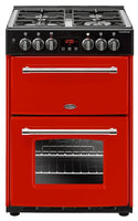 Belling Dual Fuel Cooker Farmhouse 60DF Hot Jalapeno Double Oven 600mm Wide