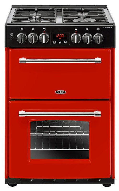 Belling Farmhouse 60DF 60cm Dual Fuel Cooker - Red