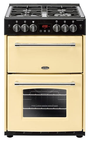 Belling Gas Cooker Farmhouse 60G Cream Double Oven 600mm Wide