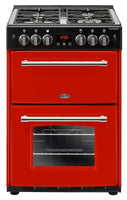 Belling Farmhouse 60G 60cm Gas Cooker with Electric Grill - Red