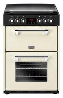 Stoves Electric Cooker Richmond 600E Cream Ceramic Double Oven 600mm Wide