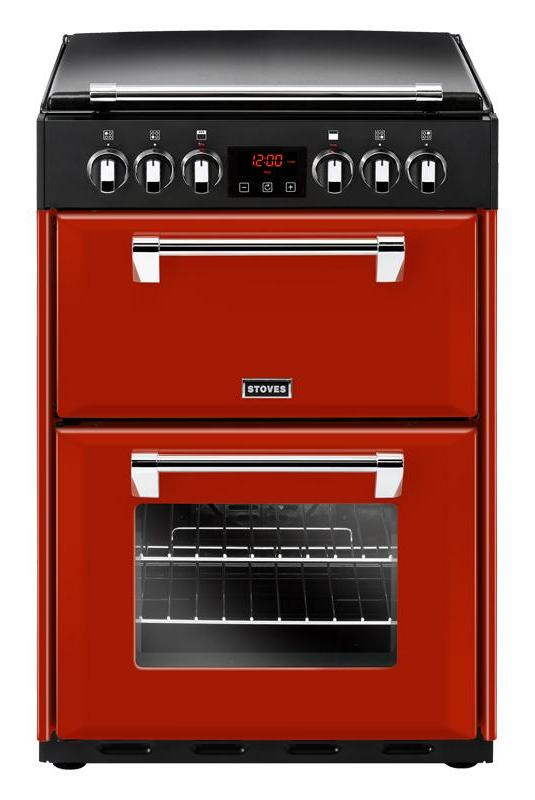 Stoves Richmond 600E 60cm Electric Cooker with Ceramic Hob - Red
