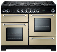 Rangemaster Kitchener KCH110DFFCR/C 110cm Dual Fuel Range Cooker - Cream/Chrome Trim