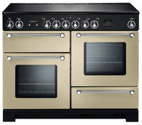 Rangemaster Kitchener KCH110ECCR/C 110cm Electric Range Cooker with Ceramic Hob - Cream/Chrome Trim