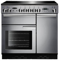 Rangemaster Professional Plus PROP90ECSS/C 90cm Electric Range Cooker with Ceramic Hob - Stainless Steel/Chrome Trim